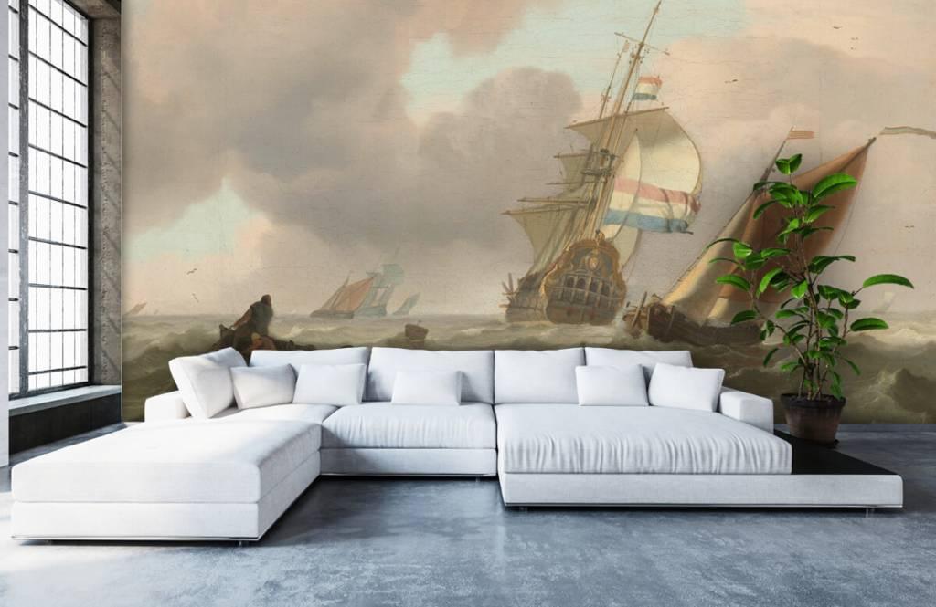 Rijksmuseum - Woelige zee met schepen - Woonkamer 6