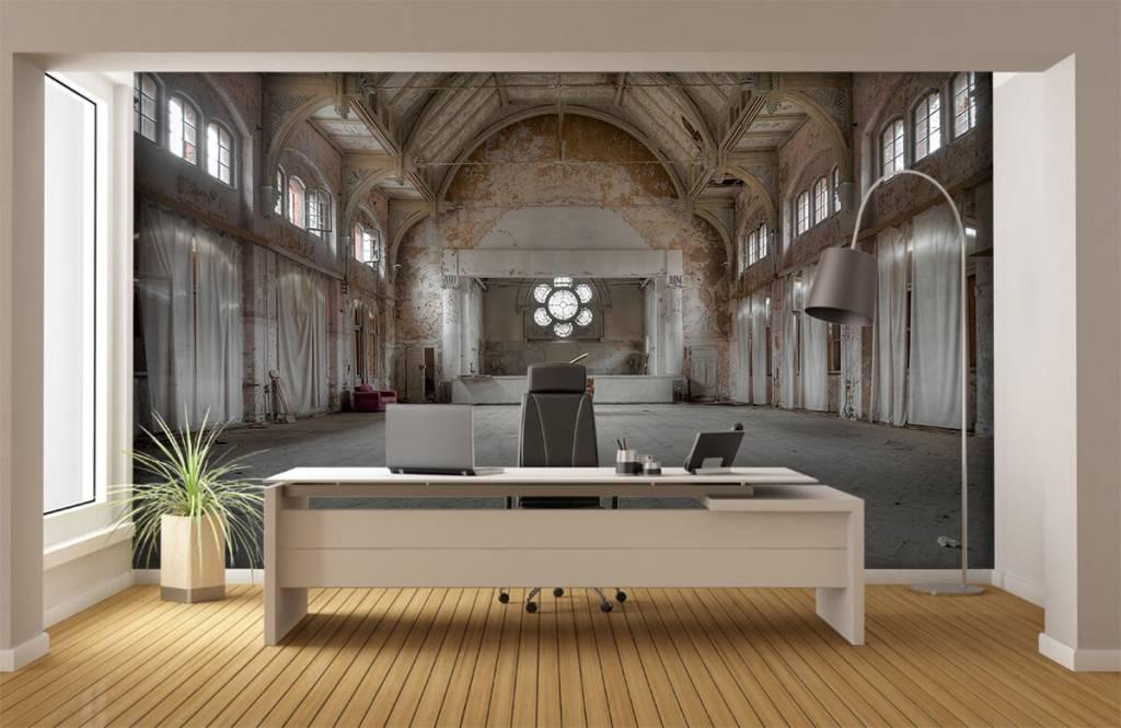 Gebouwen - Zaal in oud sanatorium - Computerruimte 4