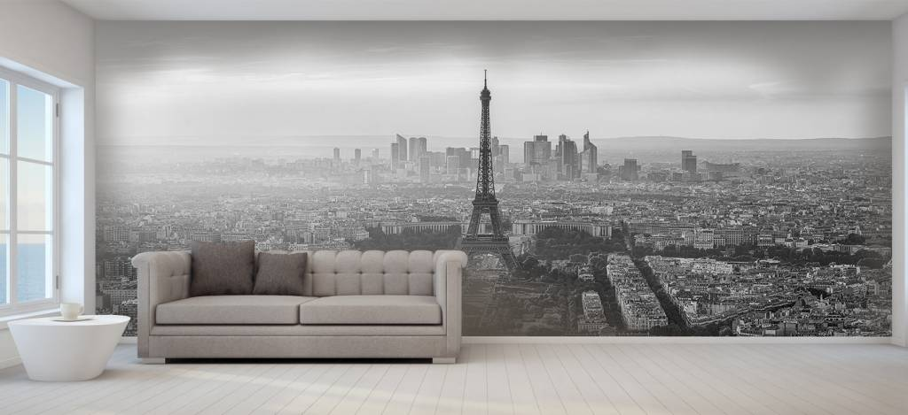 Steden behang - Zonsondergang boven Parijs - Kantine 2