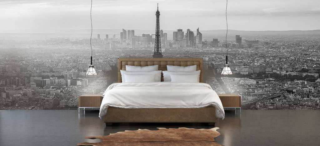 Steden behang - Zonsondergang boven Parijs - Kantine 5