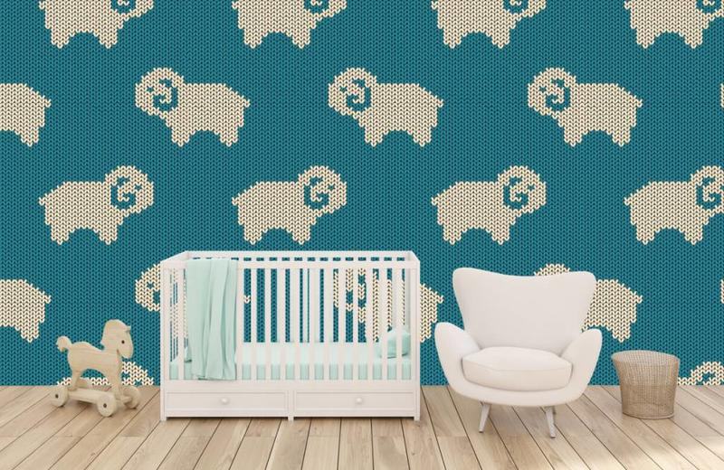 Baby Behang Schaapjes.Behang In De Babykamer 10 Schattige Voorbeelden Fotobehang